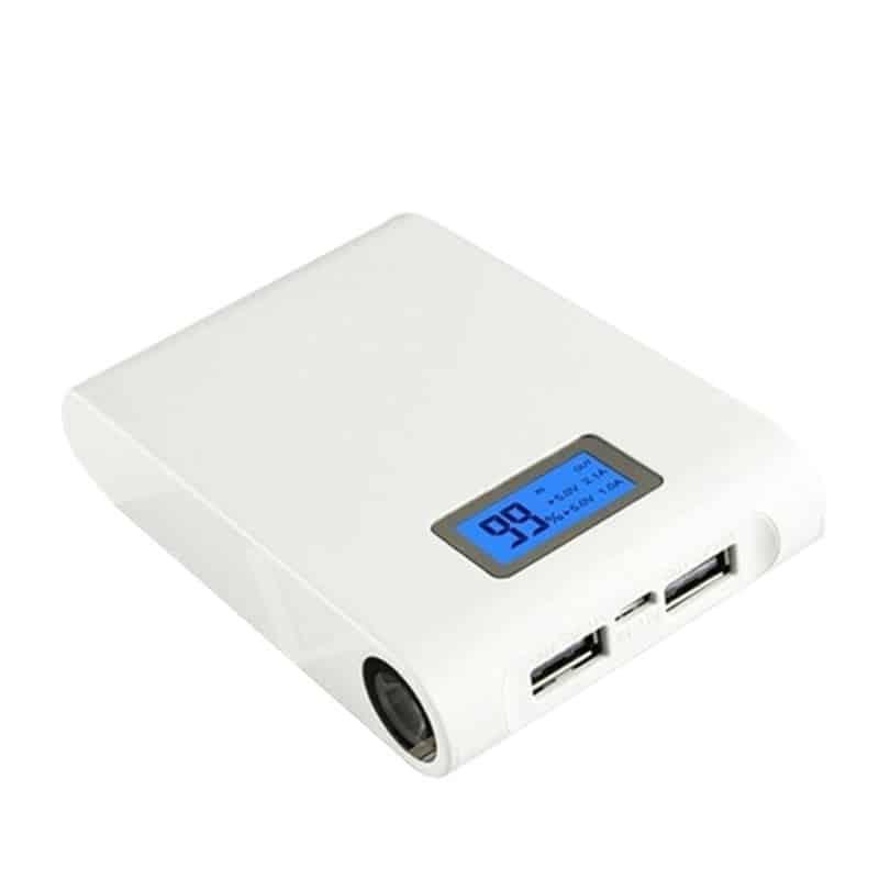 Baterie externa 12000mAh, LCD, 2 iesiri USB