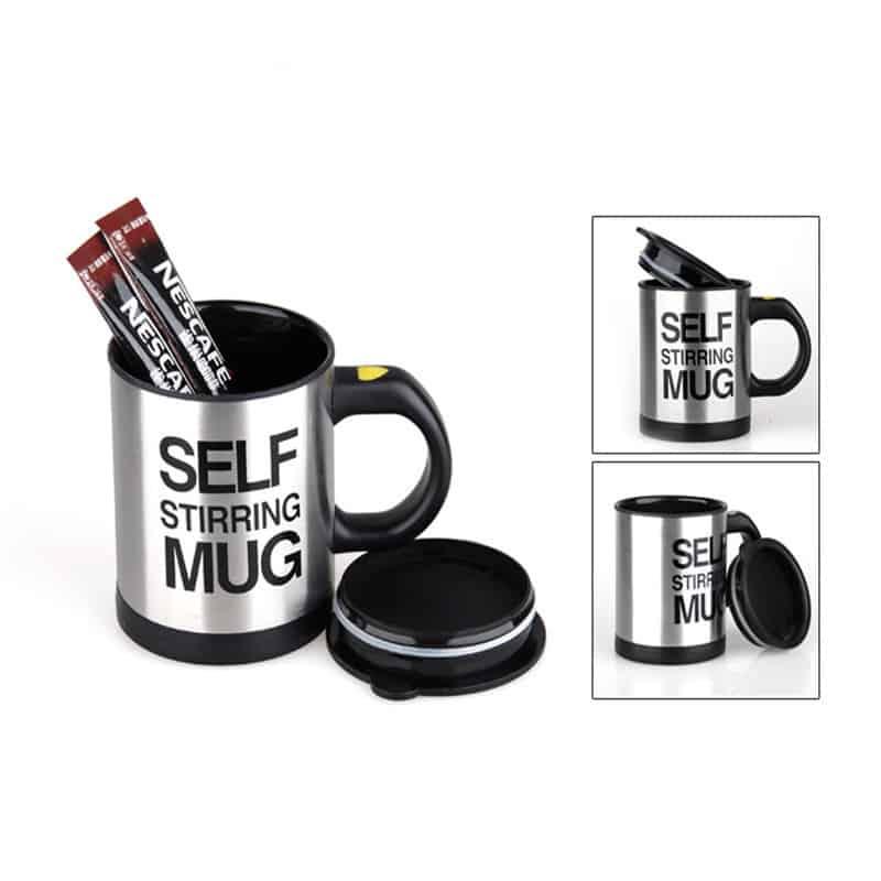 Cana cu mixer Self Stirring Mug, negru