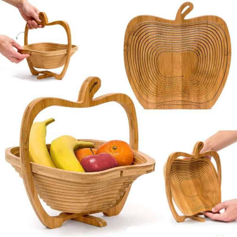 Cos pliabil din lemn pentru legume si fructe