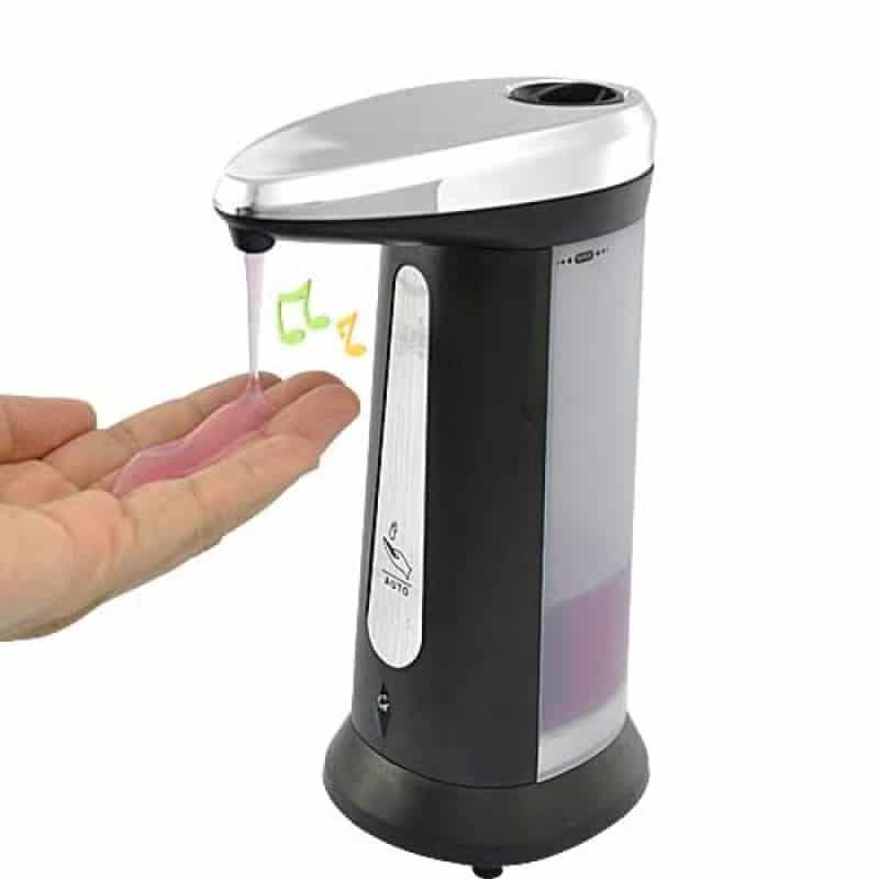 Dozator sapun cu senzor de miscare Magic Soap, negru