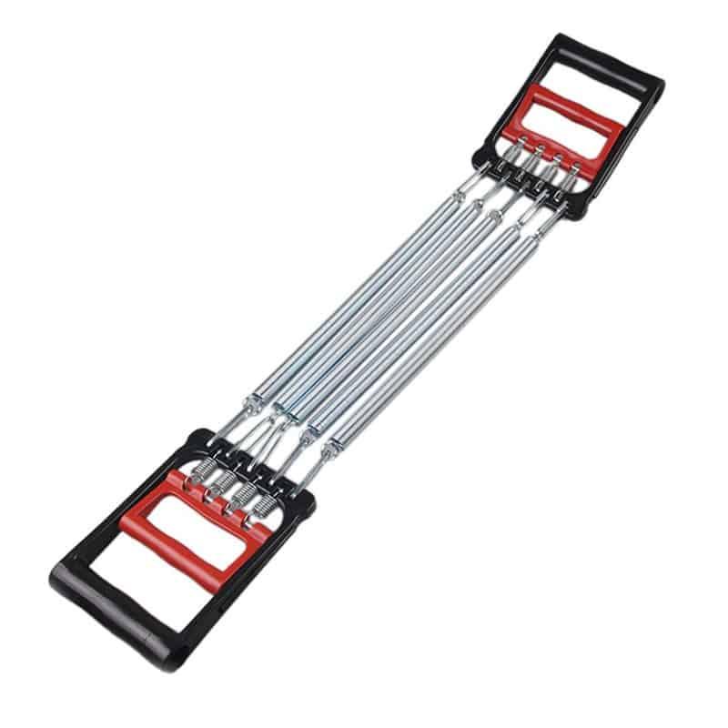 Extensor fitness cu handgrip pentru tonifiere, 5 arcuri