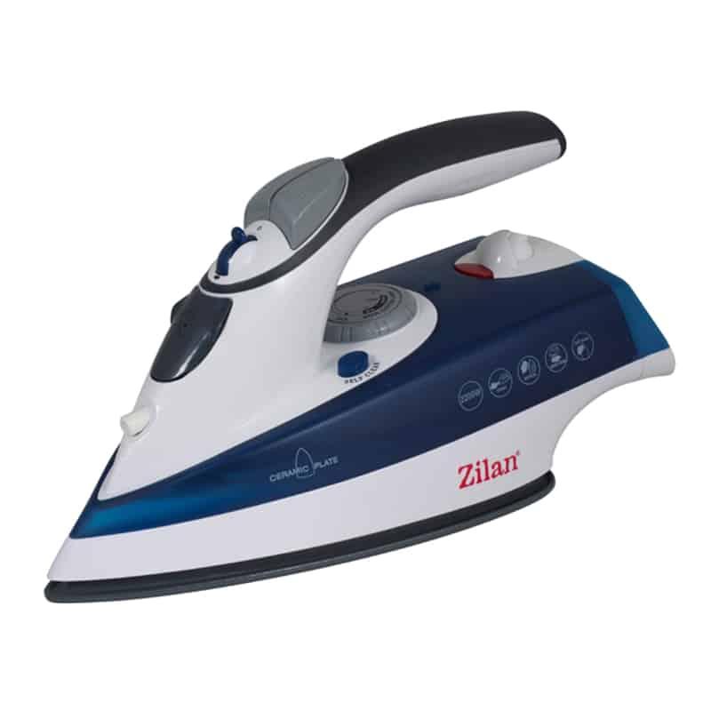 Fier de calcat Zilan ZLN-8082, 2200 W, talpa ceramica, albastru
