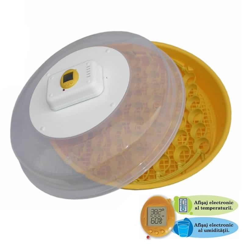Incubator Puisor Nou IO-103TH, afisaj temperatura si umiditate