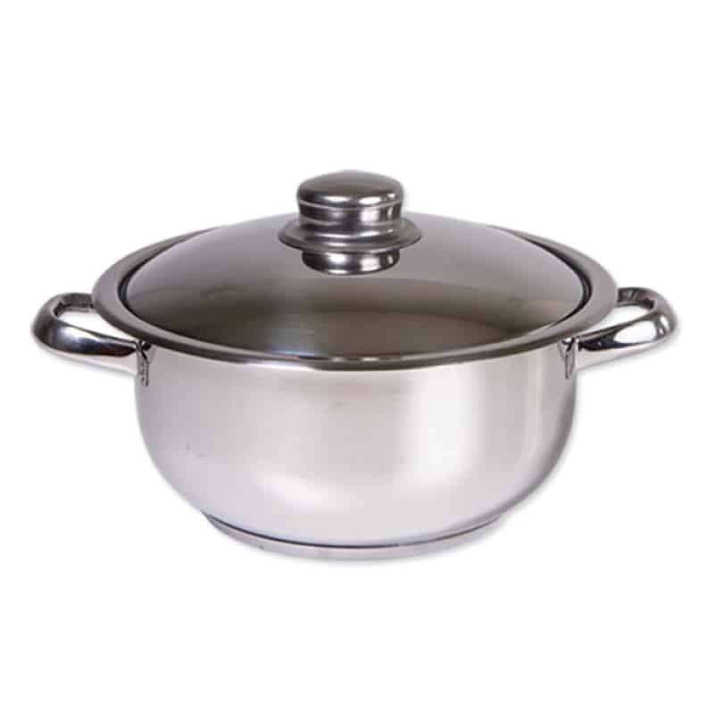 Oala inox Zilan ZLN-7239, 2 litri, 20 cm, capac