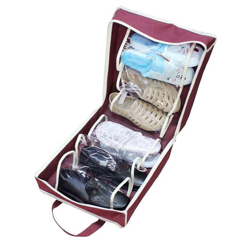 Organizator pantofi Shoe Tote Bag, 6 compartimente 2