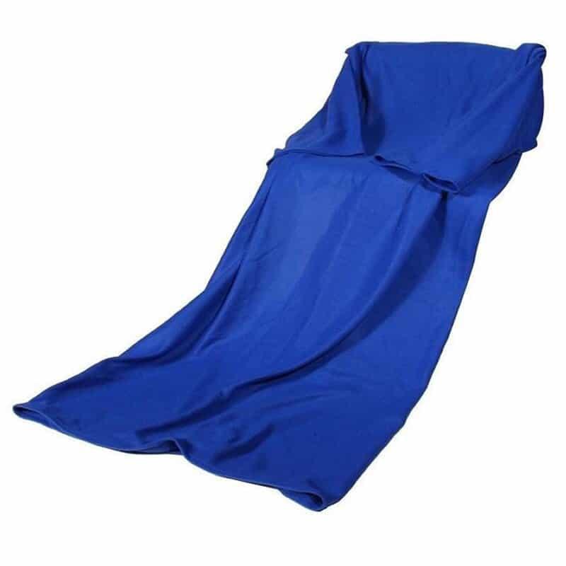 Patura cu maneci Snuggie, albastra