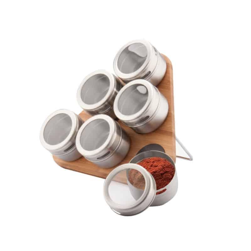 Recipiente condimente Peterhof PH-12787, suport magnetic, 7 piese