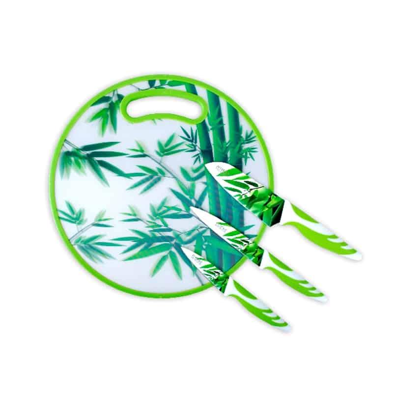 Set cutite inox Peterhof PH-22390, 4 piese, verde