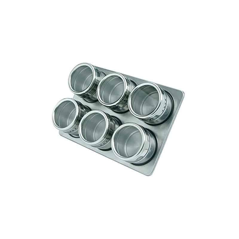 Set solnite inox Grunberg GR329, suport magnetic, 6 piese