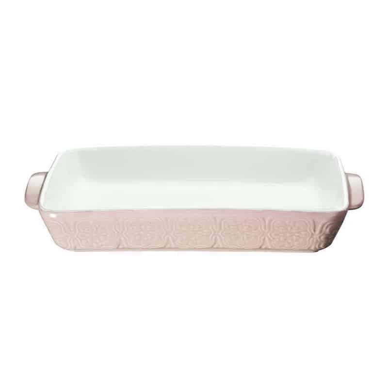 Platou ceramic dreptunghiular Peterhof PH-10075, 1.75 l, Roz