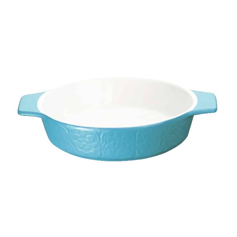 Platou ceramic rotund Peterhof PH-10074 A, 1 litru, albastru
