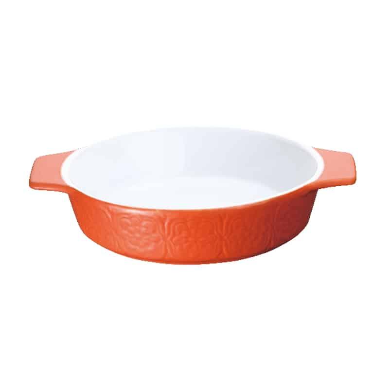 Platou ceramic rotund Peterhof PH-10074 P, 1 litru, portocaliu