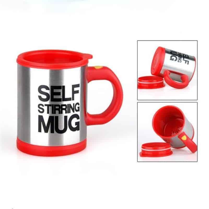 Cana cu mixer Self Stirring Mug, rosu
