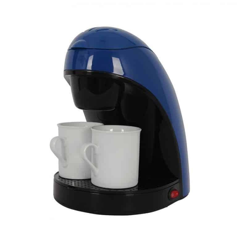 Filtru de cafea Victronic VC609A, 450 W, 2 cani portelan, albastru