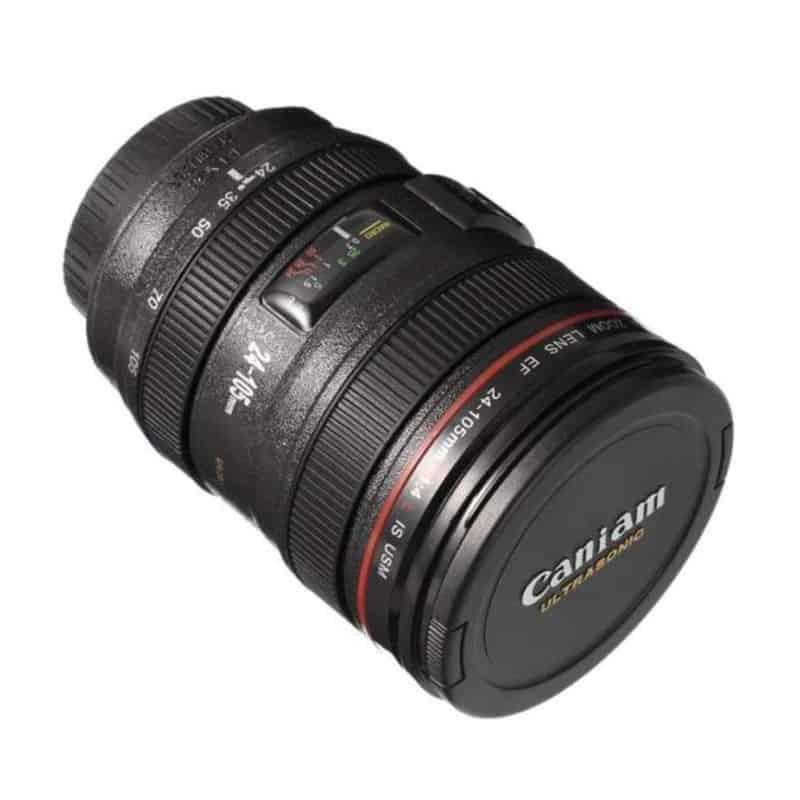 Cana termos obiectiv foto, 400ml, capac plastic