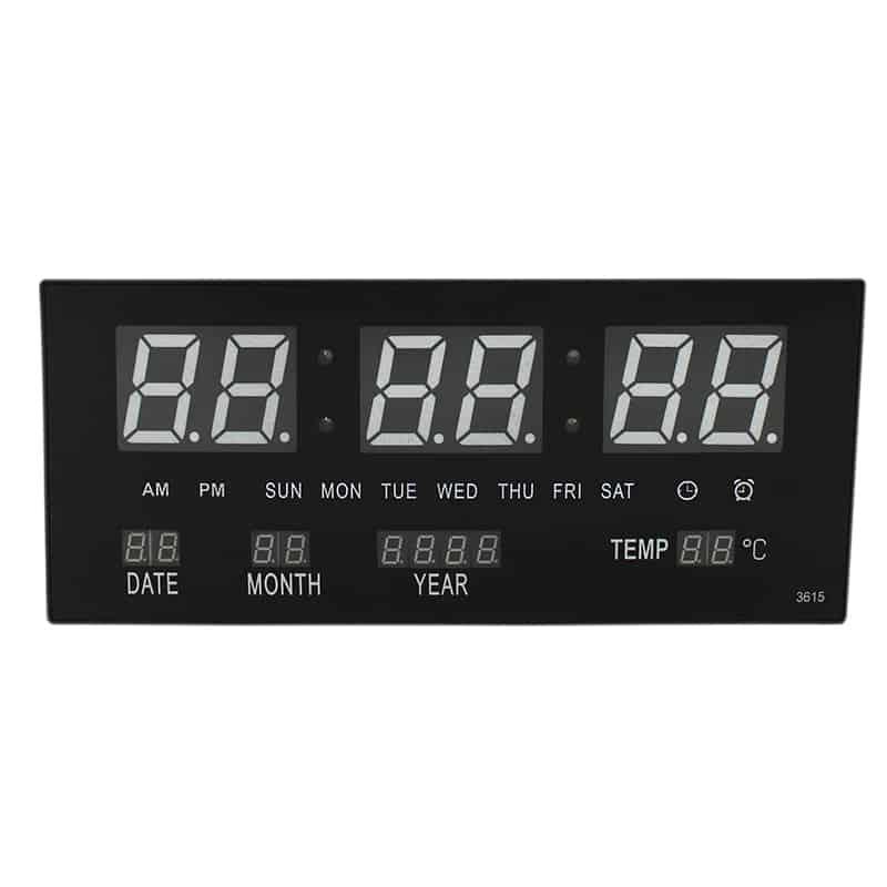 Ceas digital de perete JH-3615, afisaj alb