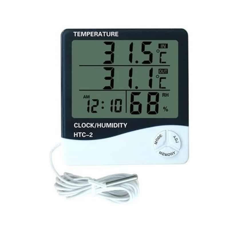 Ceas cu afisarea temperaturii si a umiditatii HTC-2