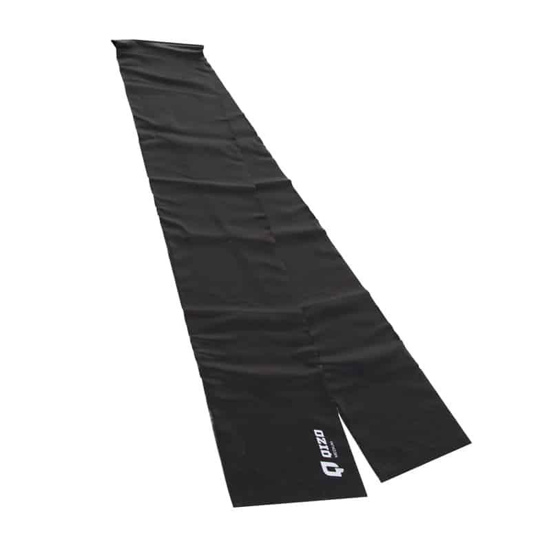 Banda elastica fitness Qizo, 150 x 15 cm, rezistenta medie, Negru