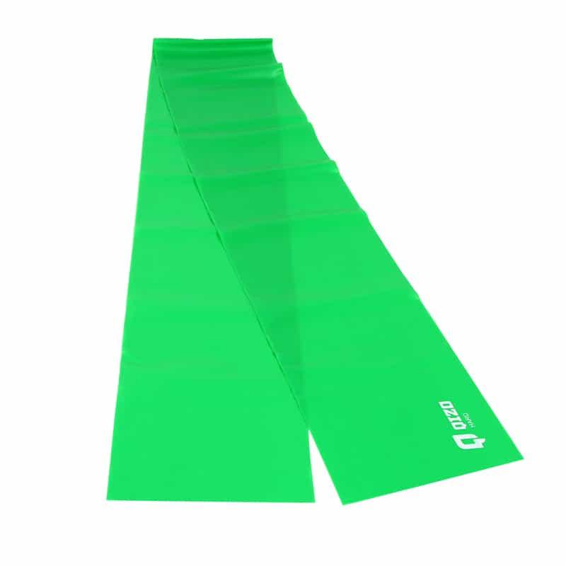 Banda elastica fitness Qizo, 150 x 15 cm, rezistenta medie, Verde