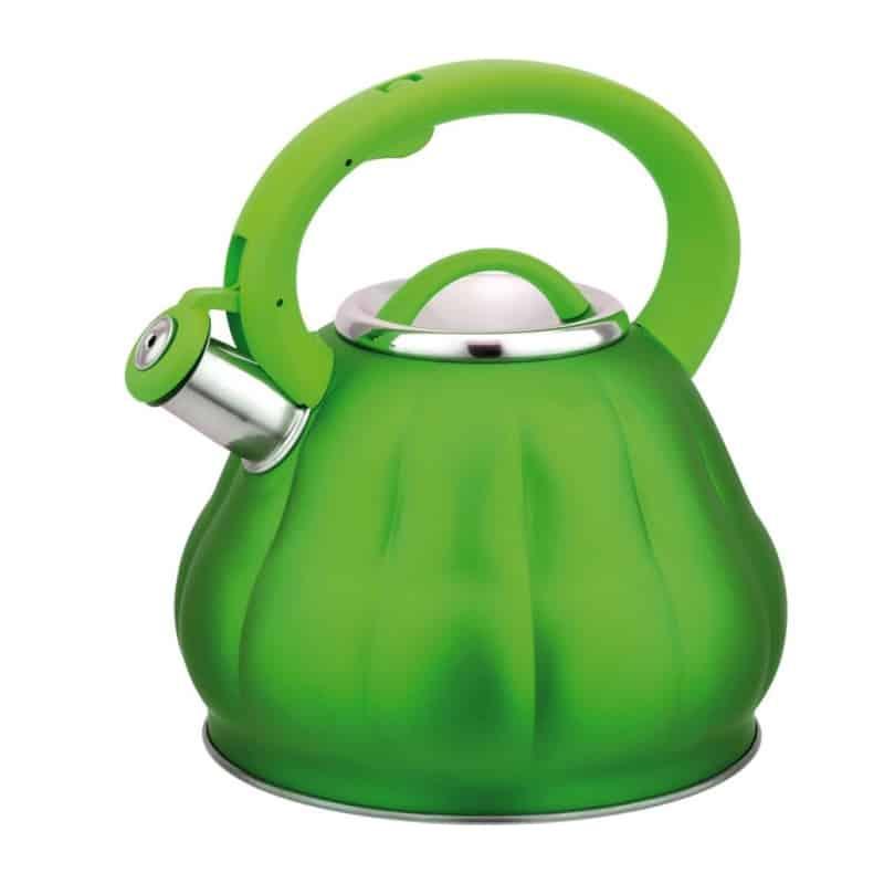 Ceainic inox cu fluier Bohmann BH-9914, 3 l, finisaj mat, Verde