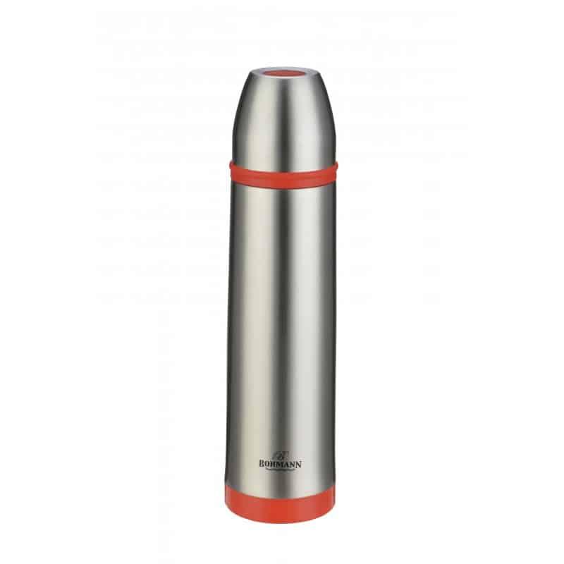 Termos inox Bohmann BH-4492, 1 litru, Rosu