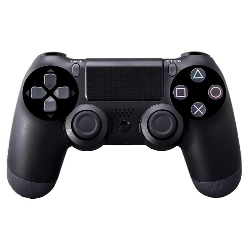Controller compatibil cu fir PS4 Doubleshock, Negru