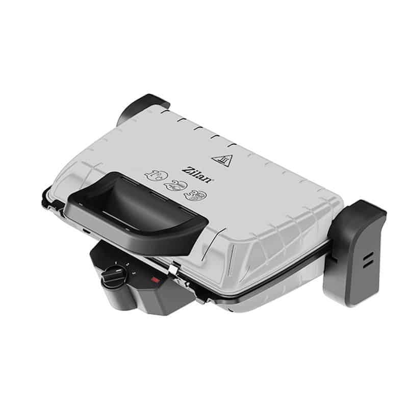Gratar electric Zilan ZLN-4021, 1600 W, termostat, alb