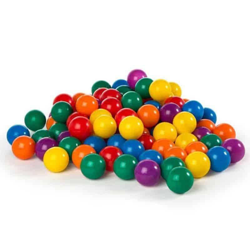 Minge colorata Intex Fun Ballz, D 8 cm, set 100 bucati