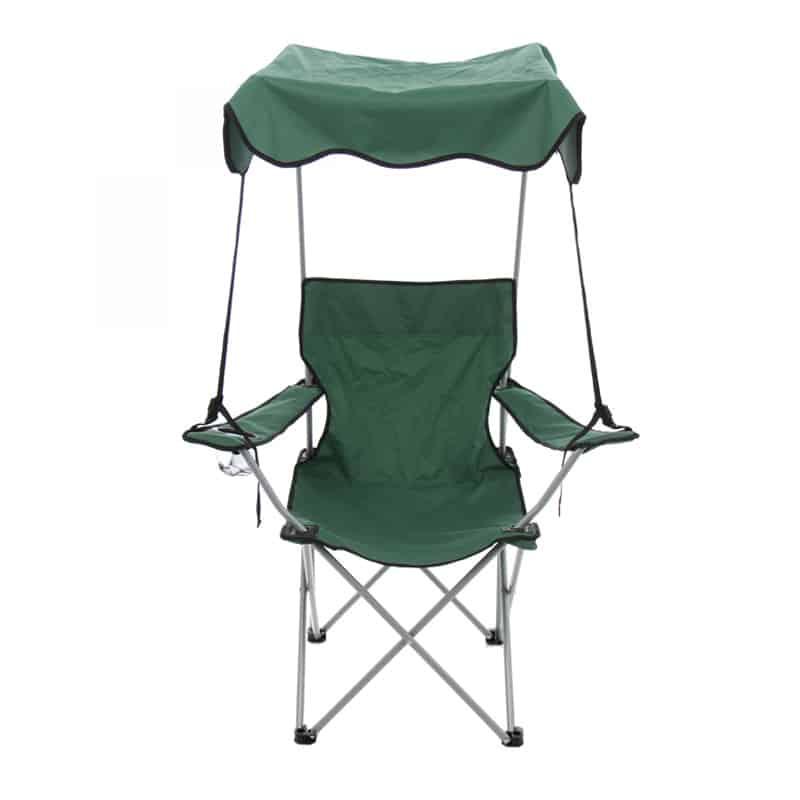 Scaun pliabil camping, protectie solara, structura metalica
