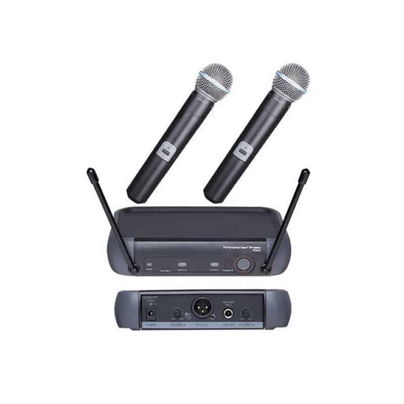 Set 2 microfoane profesionale wireless PGX4, 60 m