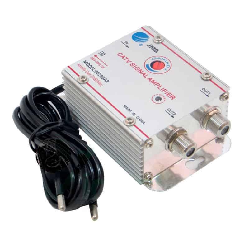 Amplificator cablu TV JMA, splitter 2 iesiri, LED