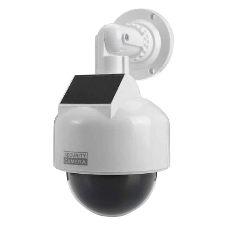 Camera solara falsa tip dome, LED, rezistenta la apa