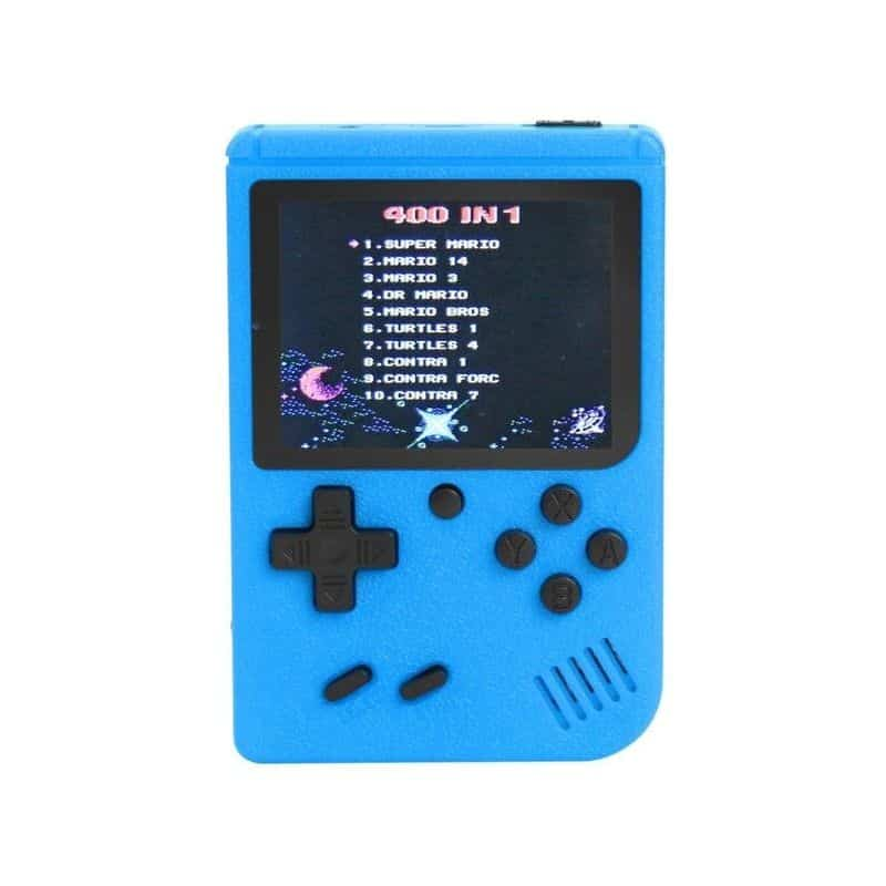 Consola portabila Gameboy Sup, 400 jocuri, acumulator, albastru