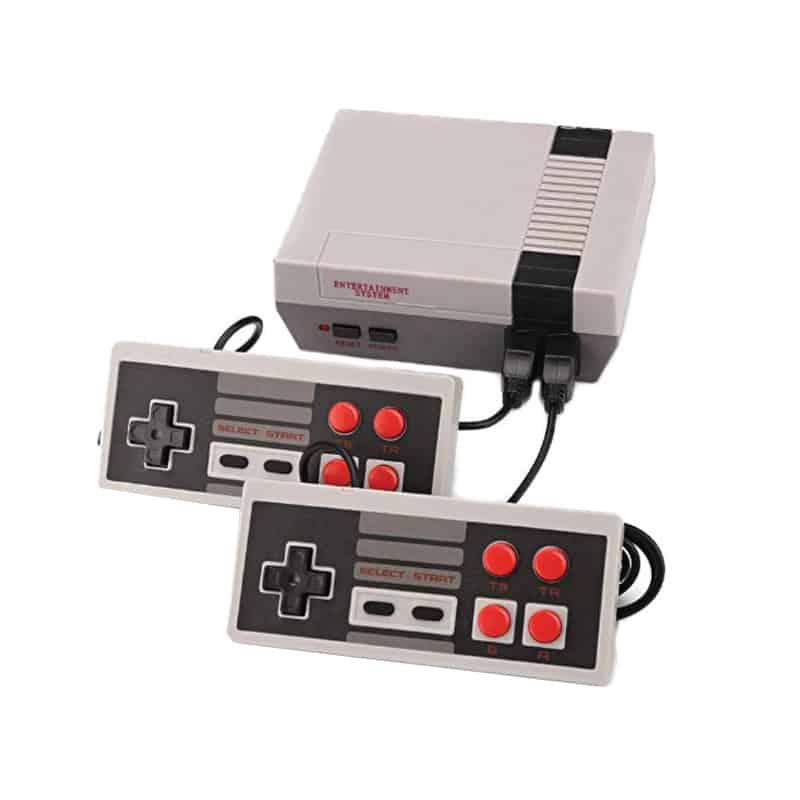 Consola retro pentru jocuri pe televizor, 2 x controller