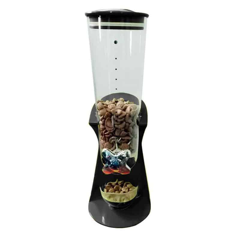 Dispenser simplu pentru cereale, ceasca inclusa, negru