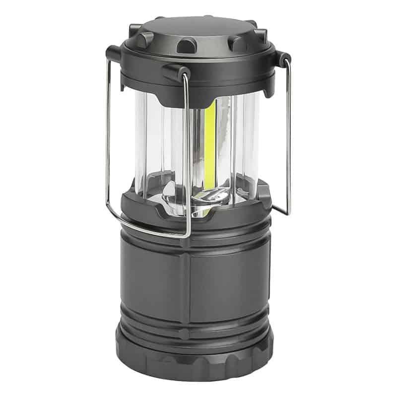Lampa portabila pentru camping, LED, 19 cm, Gri