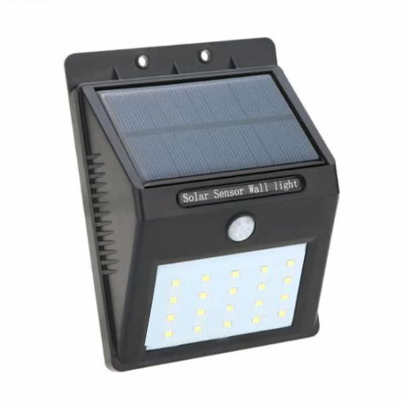 Lampa solara cu senzor miscare, 20 x LED, Negru