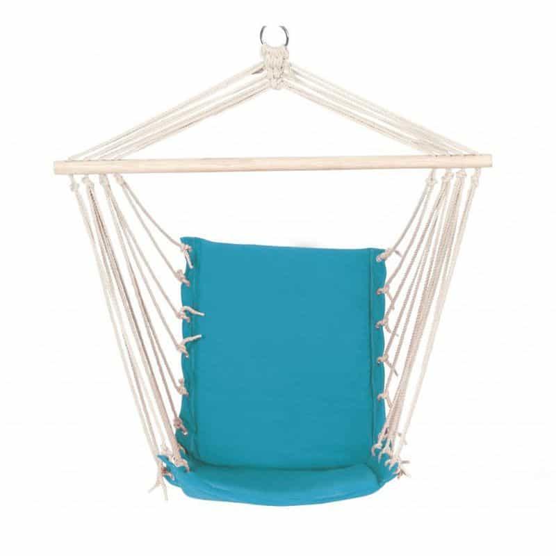 Hamac tip scaun D60016, bara din lemn, albastru