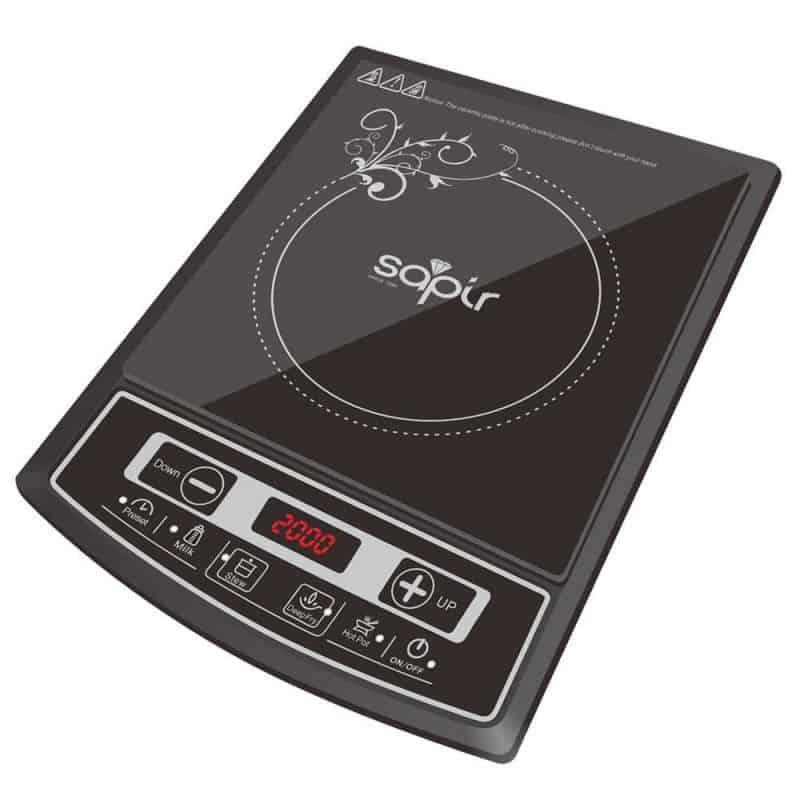 Plita cu inductie Sapir SP-1445-LG, 2000 W, afisaj LCD