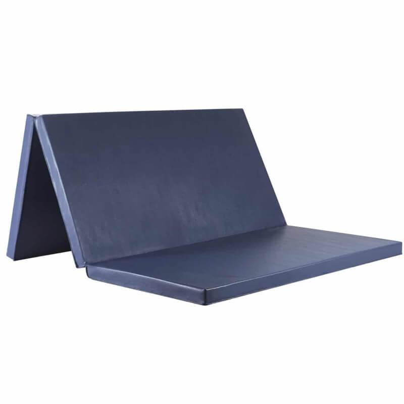Saltea gimnastica EvoGym ART, pliabila 3 segmente, 200 x 120 x 5 cm, bleumarin
