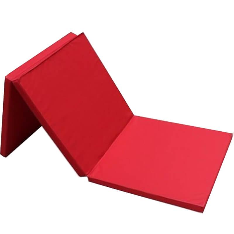Saltea gimnastica pliabila EvoGym ART, 3 segmente, 180 x 60 x 3 cm, rosu