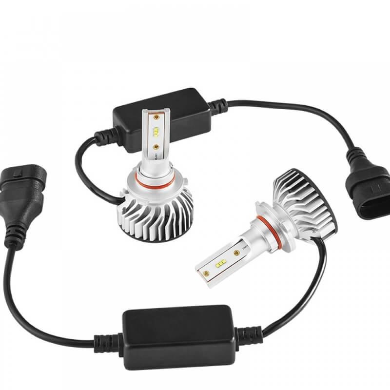 Set becuri LED auto F2, 50W, 4000Lm, 6500k, Canbus - H1