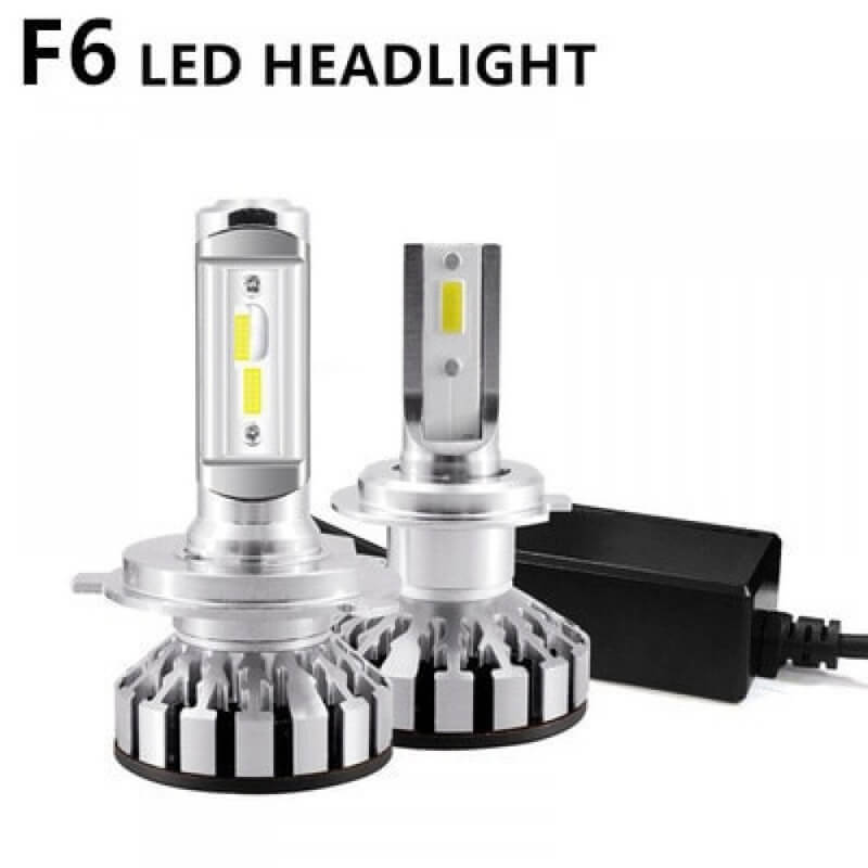 Set becuri LED auto F6, 50W, 4000Lm, 6500k, Canbus - H4