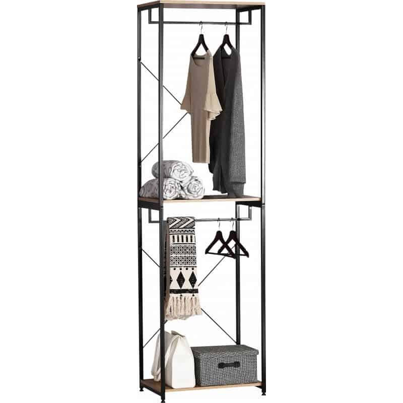 Suport pentru haine Grunberg RF3105, metal si PAL, 60 x 40 x 213 cm