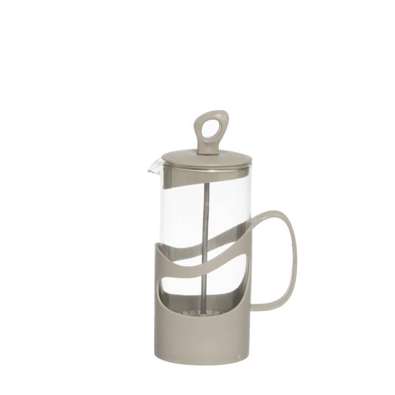 Infuzor din sticla pentru ceai sau cafea Herevin TGR3111, 400ml, gri