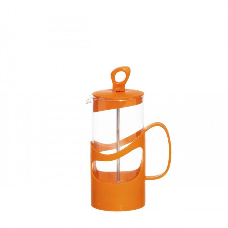 Infuzor din sticla pentru ceai sau cafea Herevin TGR3111, 400ml, portocaliu